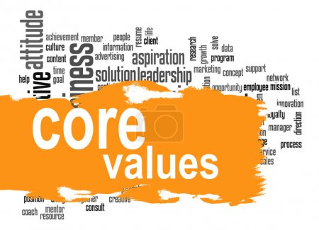 Photo pour Core values word cloud image with hi-res rendered artwork that could be used for any graphic design Core values word cloud image with hi-res rendered artwork that could be used for any graphic design Core values word cloud image with hi-res rendered artwork that could be used for any graphic design. - image libre de droit