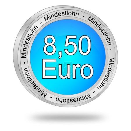 Foto de Azul 8,50 euros salario - en alemán - Imagen libre de derechos