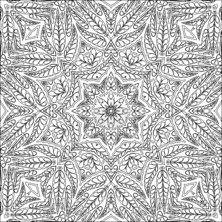 Coloring page ornamental pattern