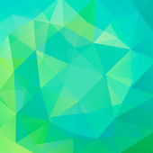 Abstract background consisting of green blue triangles vector illustration