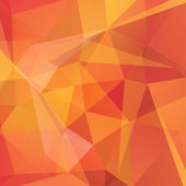 Abstract background consisting of orange yellow red triangles vector illustration