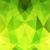 Geometric pattern polygon triangles vector background in green and yellow tones Illustration pattern