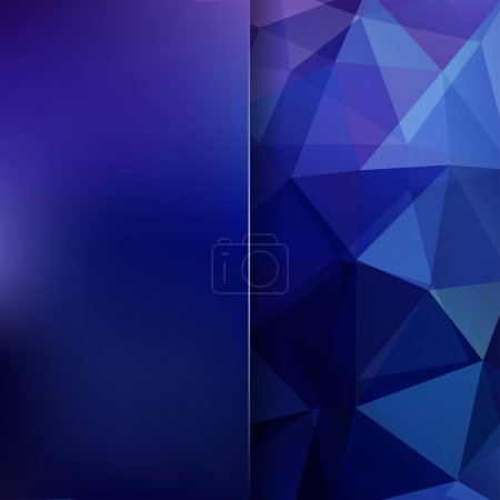 Abstract polygonal vector background. Blue geometr...