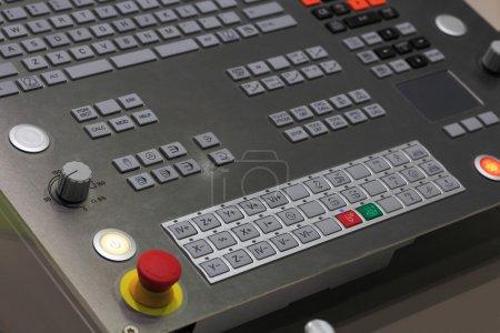 Operation panel of CNC machining center
