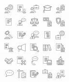 Legal icons linear monotone