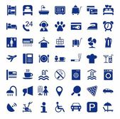 Hotel hotel services single-color icons