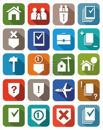 Illustration pour Icônes des services juridiques pour les sites Web, la publicité et l'impression . - image libre de droit