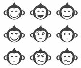 Monkeys smiley small icon monochrome