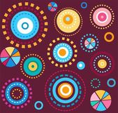 Background geometric circles colorful fireworks wine red seamless abstract