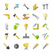 Construction and repair color icons