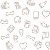 Pet products seamless background white
