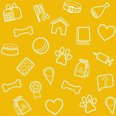 The goods for animals background seamless yellow