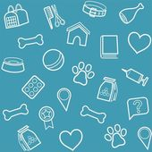 The goods for animals background seamless blue