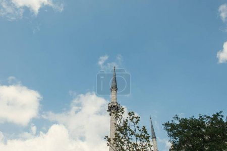 Low angle view of columns of Mihrimah Sultan Mosque, Istanbul, Turkey