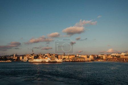 Sea and buildings on coast of Istanbul, Turkey