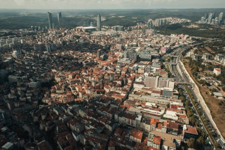 aerial view of Istanbul cityscape with skyline, Turkey
