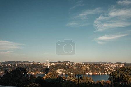 bridge over Bosphorus strait, and picturesque cityscape