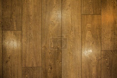Photo for Wooden parquet. wooden floor - Royalty Free Image