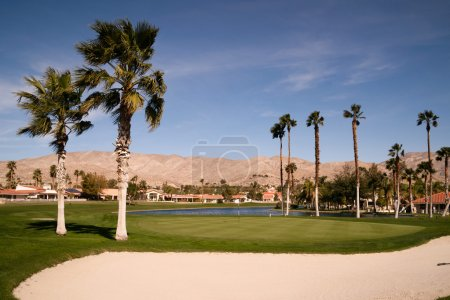 Sand Bunker Golf Course Palm Springs Vertical Desert Mountains