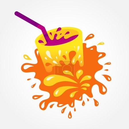 Illustration pour Boisson jus boisson éclaboussure - image libre de droit