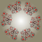 circular pattern in a love style with heart and beautiful curls