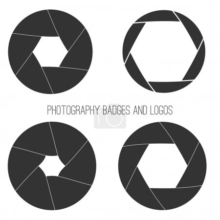 Vector collection of photography logo templates. Photocam logotypes. Photography vintage badges and icons. Photo labels.