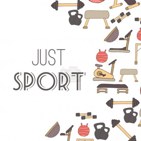 Flat design of gym items set illustration vector