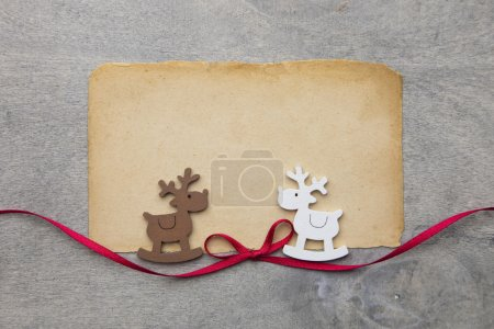 Photo for Wood background with christmas decoration in shabby chic style - Royalty Free Image