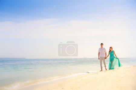 Asian couple on honeymoon
