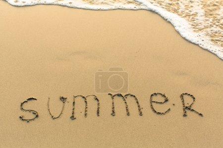 Summer - inscription on beach