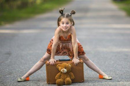Little girl traveller