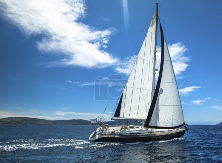 Boat in sailing regatta