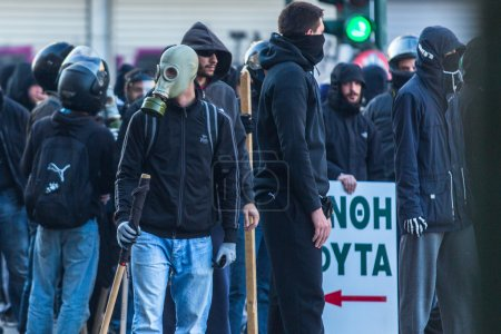 Leftist and anarchist groups clashed with police
