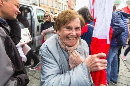 während des Fahnentages der Republik Polen