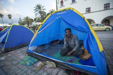 Unidentified  war refugee in Kos