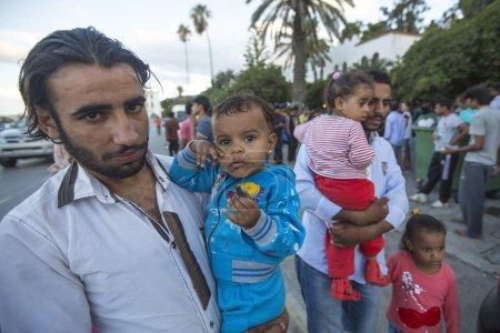 Unidentified children war refugees