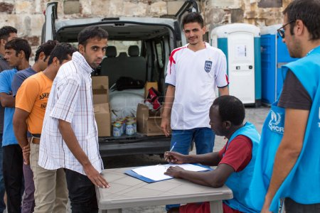 War refugees are registered by employees of the UNHCR