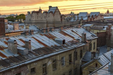 Roof of St. Petersburg during white nights.