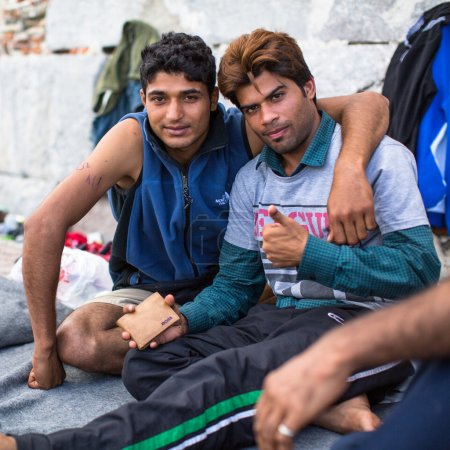 Unidentified refugees in Kos,Greece