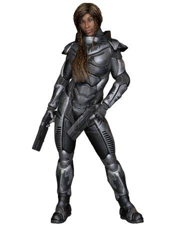 Future Soldier, Black Female, Standing