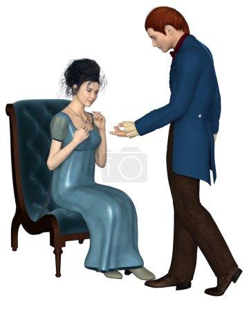 Mann und Frau der Regentschaftszeit