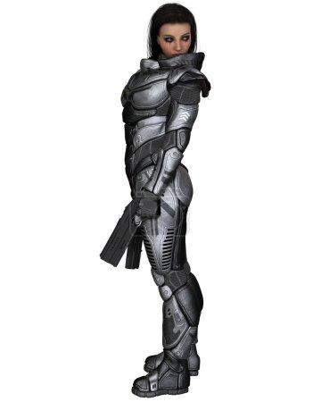 Future Soldier, Female Brunette, Standing