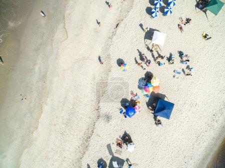 Crowd of People on Beach, Rio de Janeiro