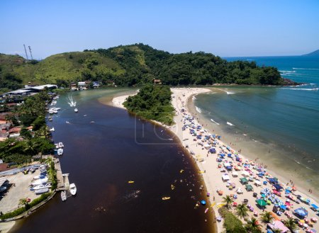Crowd of people Beach, Brazil