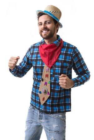 Man wearing junina costume