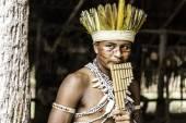 Rituál indiánský kmen v Amazonii, Brazílie