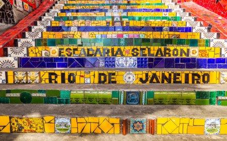 Selaron Stairway (Escadaria Selaron) in Rio de Janeiro, Brazil