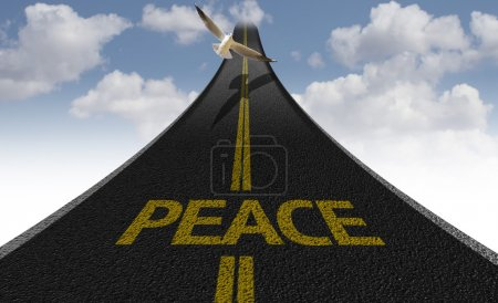 Peace Creative road sign