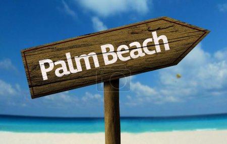 Palm Beach, Australia wooden sign