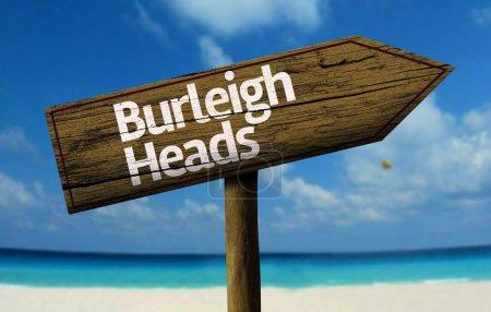Burleigh Heads, Australia wooden sign